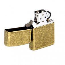 Зажигалка ZIPPO, с покрытием Anitque Brass™, медь/сталь, матовая, 36x12x56 мм 201FB