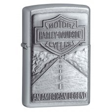 Зажигалка ZIPPO Harley-Davidson®, с покрытием Street Chrome™, латунь/сталь, серебристая, 36x12x56 мм 20229
