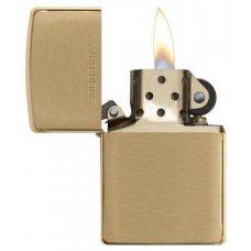 Зажигалка ZIPPO с покрытием Brushed Brass, латунь/сталь, золотистая, матовая, 36x12x56 мм 204
