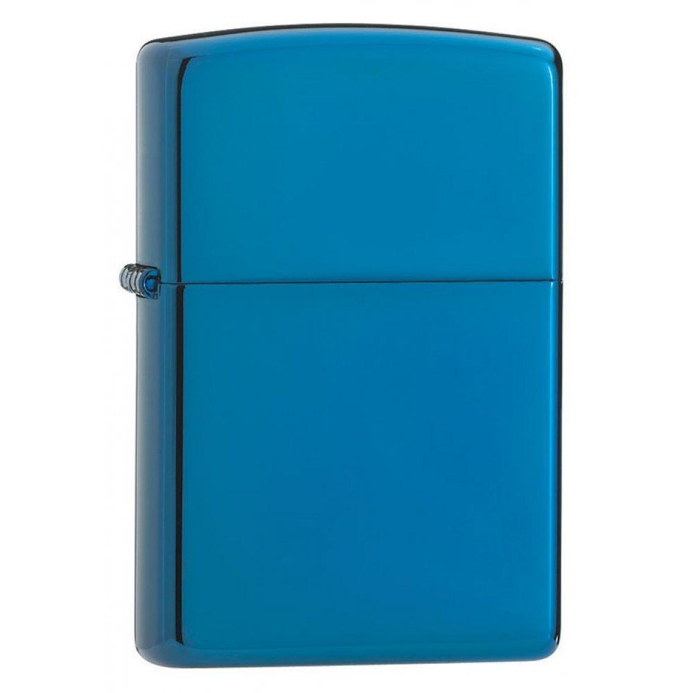 Зажигалка ZIPPO Classic с покрытием Sapphire™, латунь/сталь, синяя, глянцевая, 36x12x56 мм 20446