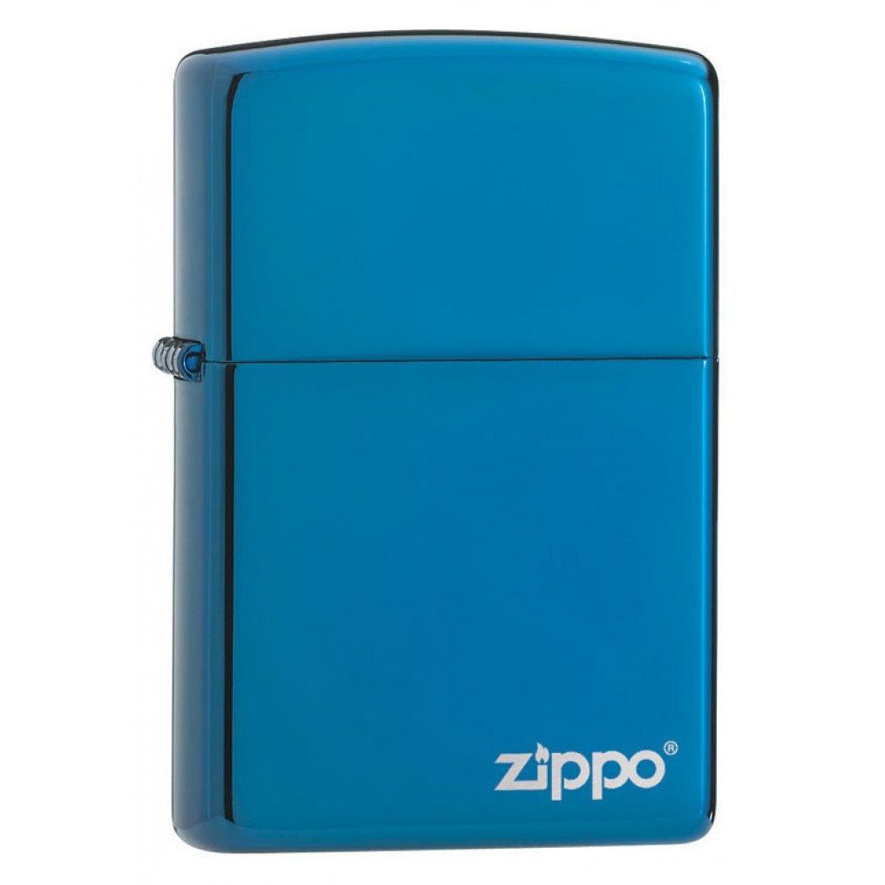 Зажигалка ZIPPO Classic с покрытием Sapphire™, латунь/сталь, синяя, глянцевая, 36x12x56 мм 20446ZL