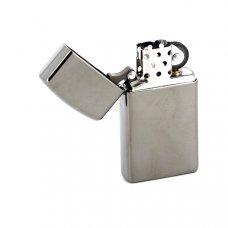 Зажигалка ZIPPO Slim® с покрытием Black Ice ®, латунь/сталь, чёрная, матовая, 30x10x55 мм 20492