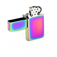 Зажигалка ZIPPO Slim® с покрытием Spectrum™, латунь/сталь, разноцветная, глянцевая, 30x10x55 мм 20493