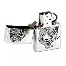 Зажигалка ZIPPO Leopard, с покрытием Satin Chrome™, латунь/сталь, серебристая, матовая, 36x12x56 мм 205 LEOPARD