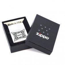 Зажигалка ZIPPO Tattoo Design, с покрытием Satin Chrome™, латунь/сталь, серебристая, 36x12x56 мм 205 Tattoo Design