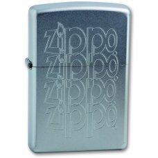 Зажигалка ZIPPO Zippo Logo, с покрытием Satin Chrome™, латунь/сталь, серебристая, 36x12x56 мм 205 ZIPPO LOGO