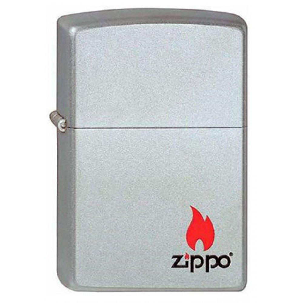 Зажигалка ZIPPO с покрытием Satin Chrome™, латунь/сталь, серебристая, матовая, 36x12x56 мм 205 ZIPPO