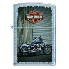 Зажигалка ZIPPO Harley-Davidson®, с покрытием Street Chrome™, латунь/сталь, серебристая, 36x12x56 мм 207 HARLEY BIKES