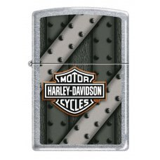 Зажигалка ZIPPO Harley-Davidson®, с покрытием Street Chrome™, латунь/сталь, серебристая, 36x12x56 мм 207 HARLEY DAVIDSON