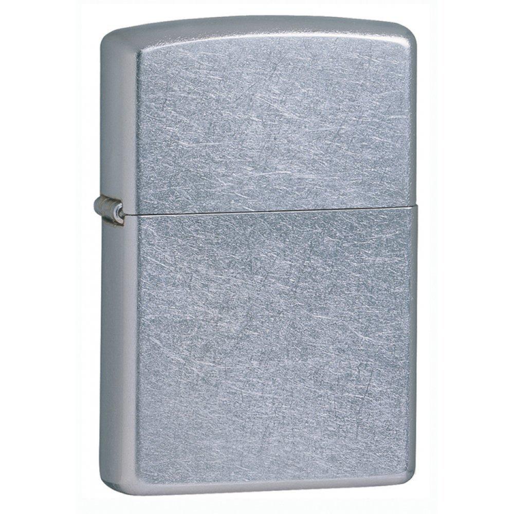 Зажигалка ZIPPO Classic с покрытием Street Chrome™, латунь/сталь, серебристая, матовая, 36x12x56 мм 207
