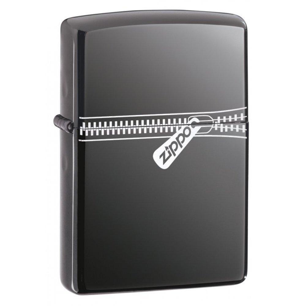 Зажигалка ZIPPO Classic с покрытием Black Ice ®, латунь/сталь, чёрная, глянцевая, 36x12x56 мм 21088