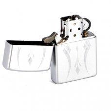 Зажигалка ZIPPO Classic с покрытием Satin Chrome™, латунь/сталь, серебристая, матовая, 36x12x56 мм 21155
