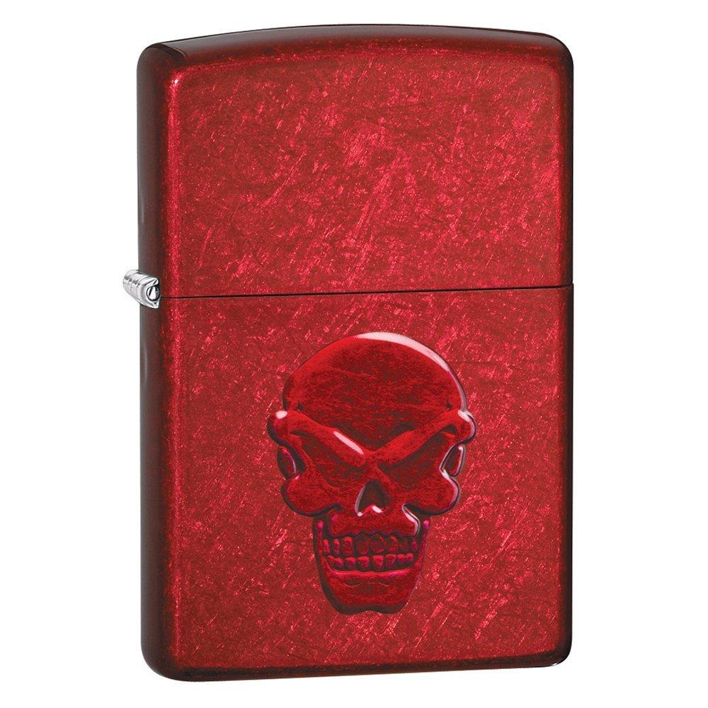 Зажигалка ZIPPO Doom с покрытием Candy Apple Red, латунь/сталь, красная, глянцевая, 36x12x56 мм 21186