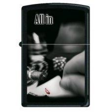 Зажигалка ZIPPO All In с покрытием Black Matte, латунь/сталь, чёрная, матовая, 36x12x56 мм 218 ALL IN ALL