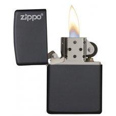Зажигалка ZIPPO Classic с покрытием Black Matte, латунь/сталь, чёрная, матовая, 36x12x56 мм 218ZL