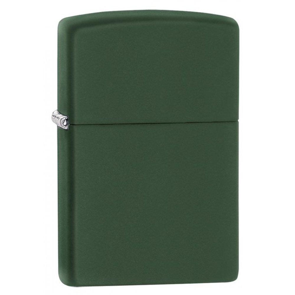 Зажигалка ZIPPO Classic с покрытием Green Matte, латунь/сталь, зелёная, матовая, 36x12x56 мм 221