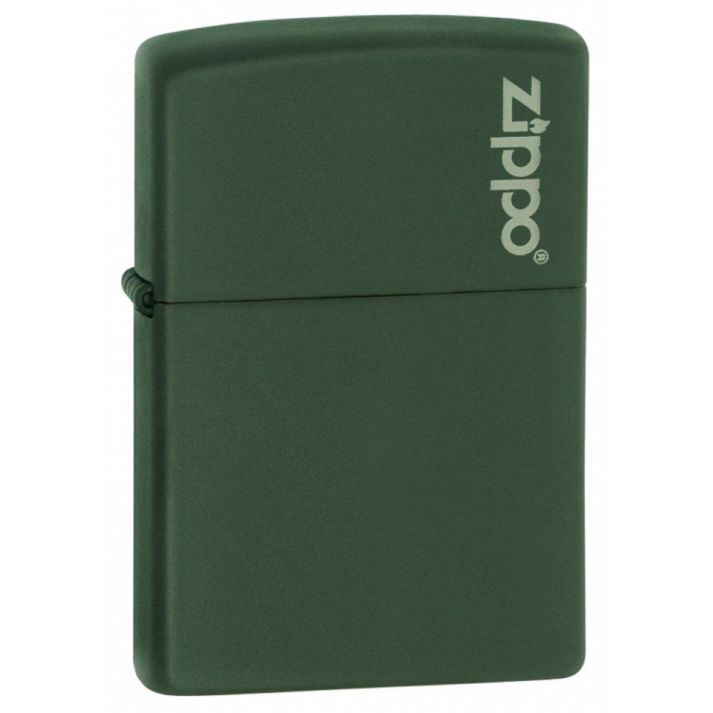 Зажигалка ZIPPO Green Matte, латунь с порошковым покрытием, зеленая, матовая, 36х56х12 мм 221ZL