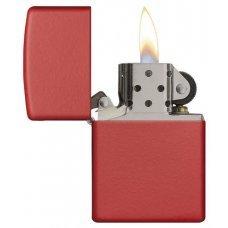 Зажигалка ZIPPO Classic с покрытием Red Matte, латунь/сталь, красная, матовая, 36x12x56 мм 233