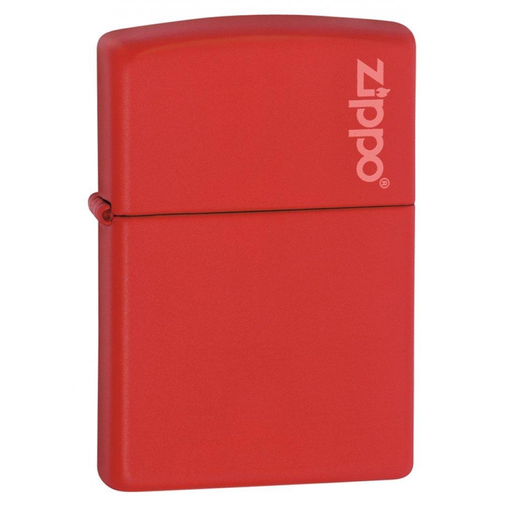 Зажигалка ZIPPO Classic с покрытием Red Matte, латунь/сталь, красная, матовая, 36x12x56 мм 233ZL