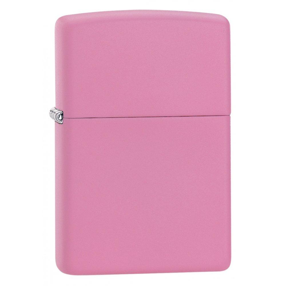 Зажигалка ZIPPO Classic с покрытием Pink Matte, латунь/сталь, розовая, матовая, 36x12x56 мм 238