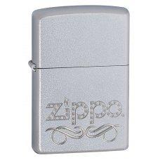 Зажигалка ZIPPO Classic с покрытием Satin Chrome™, латунь/сталь, серебристая, матовая, 36x12x56 мм 24335