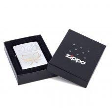 Зажигалка ZIPPO Classic с покрытием Satin Chrome™, латунь/сталь, серебристая, матовая, 36x12x56 мм 24339