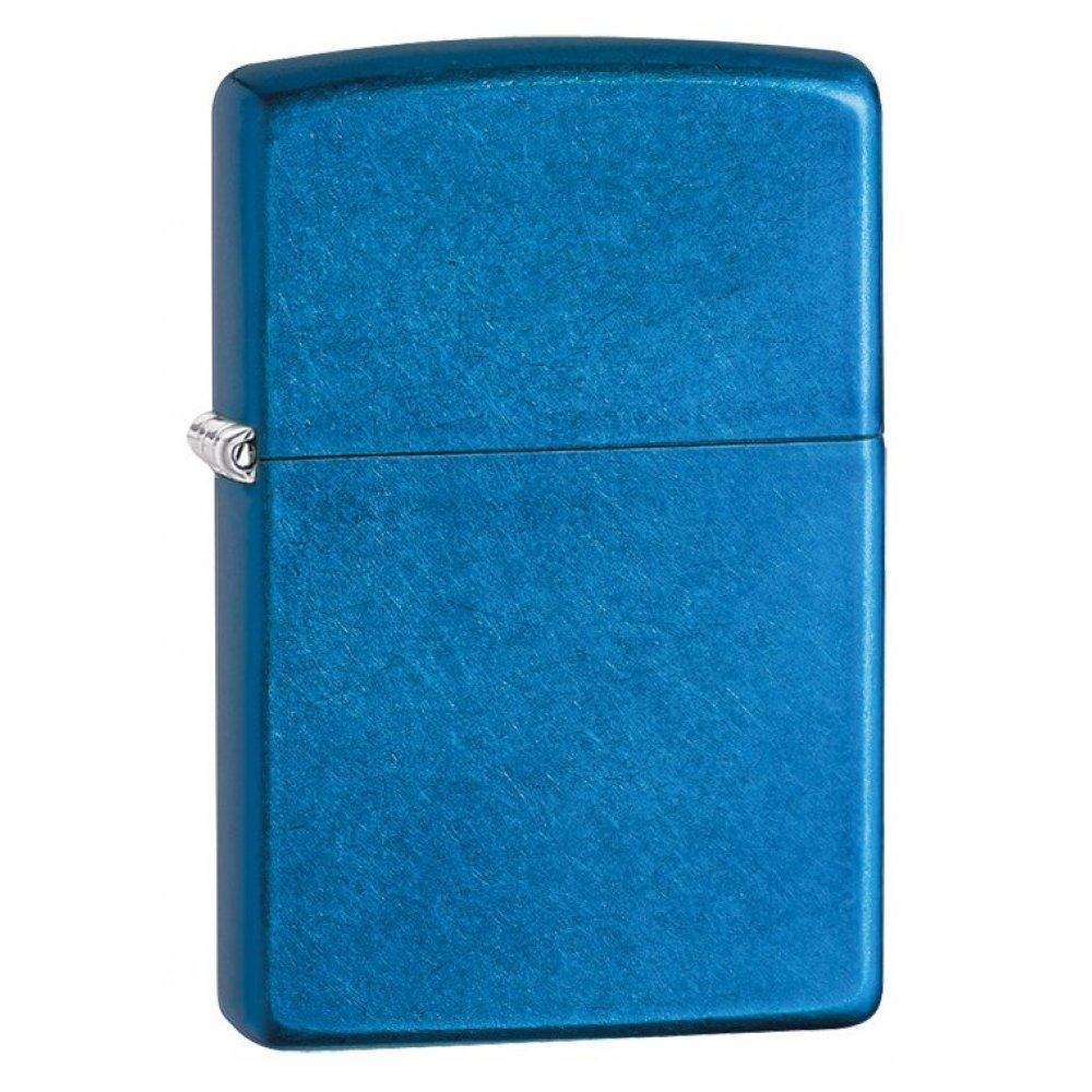 Зажигалка ZIPPO Classic с покрытием Cerulean™, латунь/сталь, синяя, глянцевая, 36x12x56 мм 24534