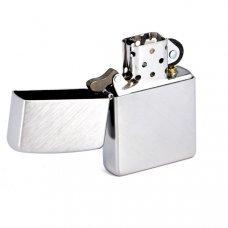 Зажигалка ZIPPO с покрытием Herringbone Sweep, латунь/сталь, серебристая, матовая, 36x12x56 мм 24648