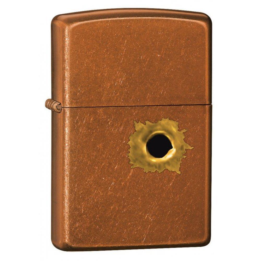Зажигалка ZIPPO Bullet с покрытием Toffee™, латунь/сталь, светло-коричневая, матовая, 36x12x56 мм 24717