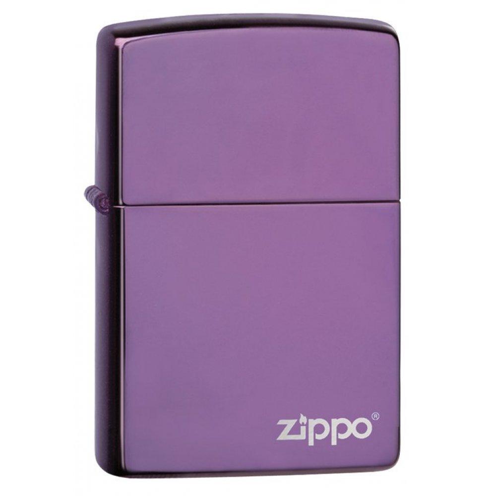 Зажигалка ZIPPO Classic с покрытием Abyss™, латунь/сталь, сиреневая с логотипом, 36x12x56 мм 24747ZL