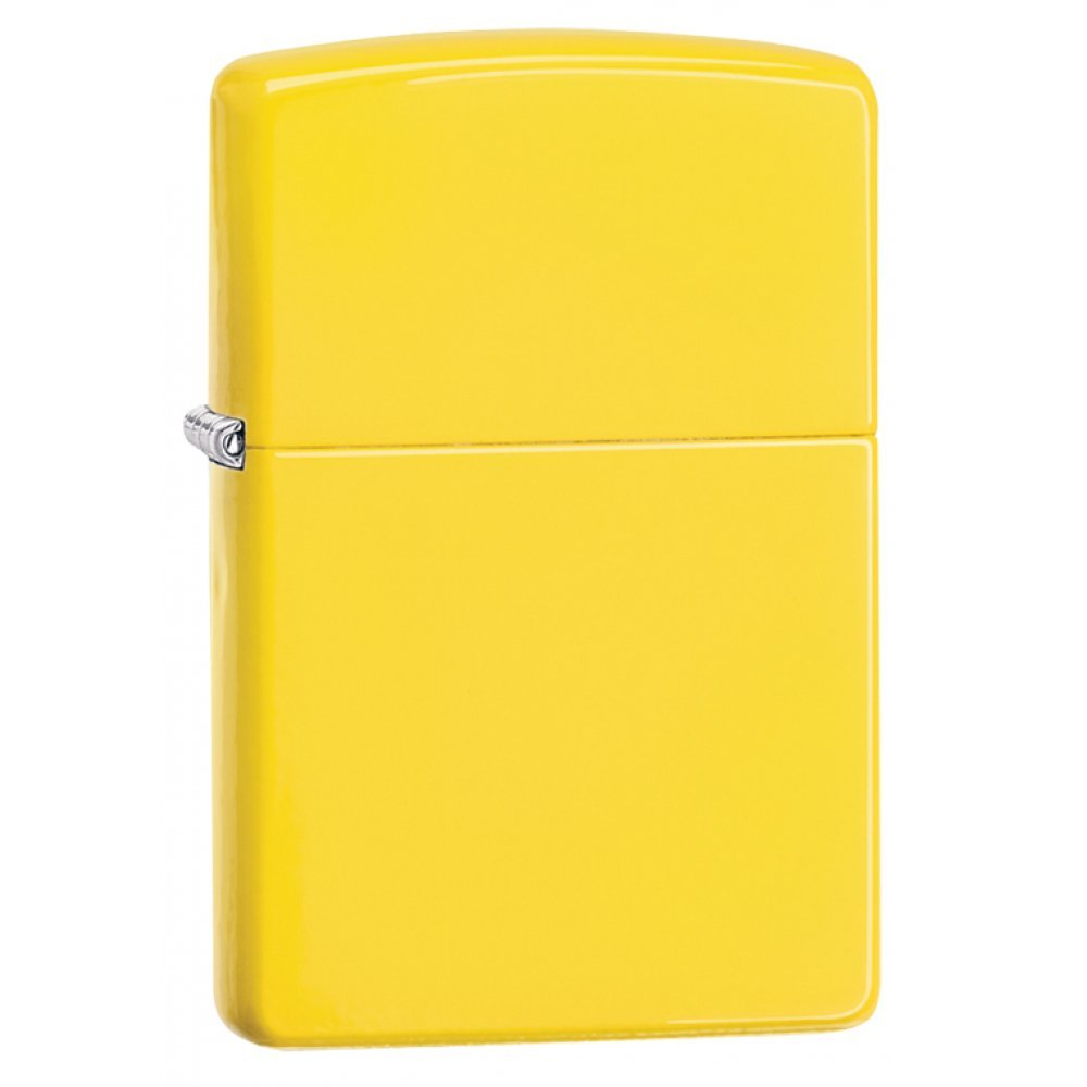 Зажигалка ZIPPO Classic с покрытием Lemon™, латунь/сталь, жёлтая, матовая, 36x12x56 мм 24839
