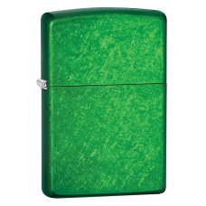 Зажигалка ZIPPO Classic с покрытием Meadow™, латунь/сталь, зеленая, глянцевая, 36x12x56 мм 24840