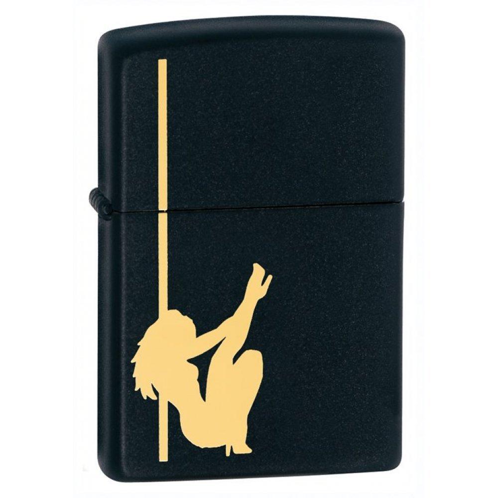 Зажигалка ZIPPO Classic с покрытием Black Matte, латунь/сталь, чёрная, матовая, 36x12x56 мм 24892