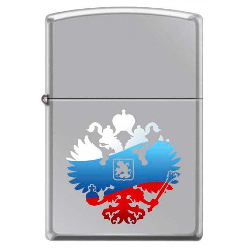 Зажигалка ZIPPO Двуглавый орёл, с покрытием High Polish Chrome, латунь/сталь, 36x12x56 мм 250 RUSSIAN COAT OF ARMS