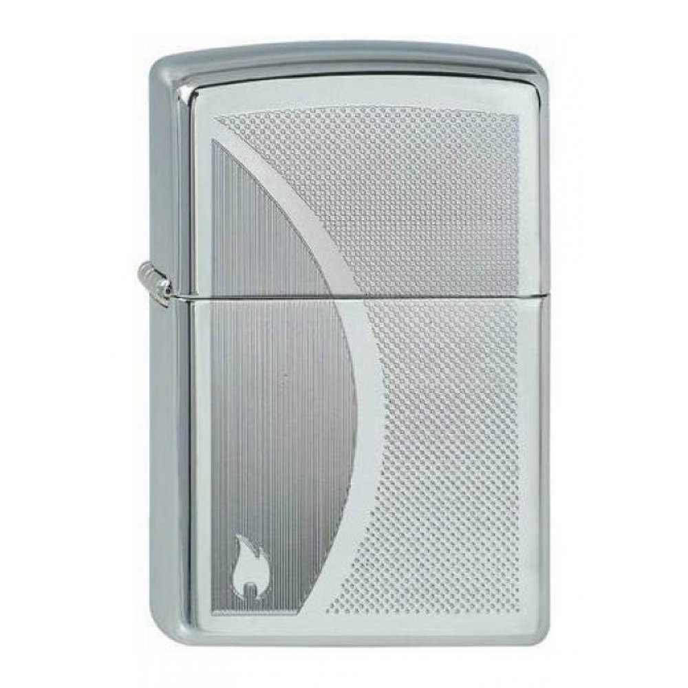 Зажигалка ZIPPO Classic с покрытием High Polish Chrome, латунь/сталь, серебристая, 36x12x56 мм 250 Shadow Gradiant