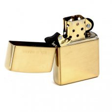 Зажигалка ZIPPO Classic с покрытием High Polish Brass, латунь/сталь, золотистая, 36x12x56 мм 254