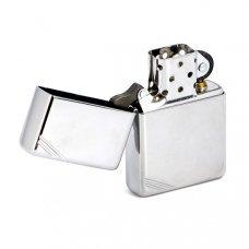 Зажигалка ZIPPO Vintage™с покрытием High Polish Chrome, латунь/сталь, серебристая, 36x12x56 мм 260