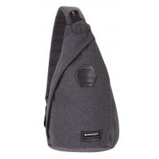Рюкзак WENGER на одно плечо, cерый, ткань Grey Heather/ полиэстер 600D PU, 25х15х45 см, 7 л 2607424550