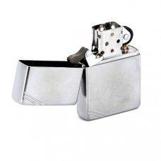 Зажигалка ZIPPO Vintage с покрытием Street Chrome™, латунь/сталь, серебристая, матовая, 36x12x56 мм 267