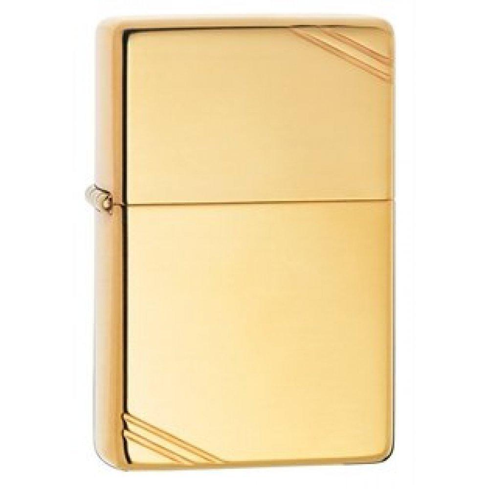 Зажигалка ZIPPO Vintage™ с покрытием High Polish Brass, латунь/сталь, золотистая, 36x12x56 мм 270
