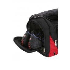 Сумка спортивная WENGER, чёрный/красный, полиэстер 600D, 56х25.5х28.5 см, 56 л 2729201213