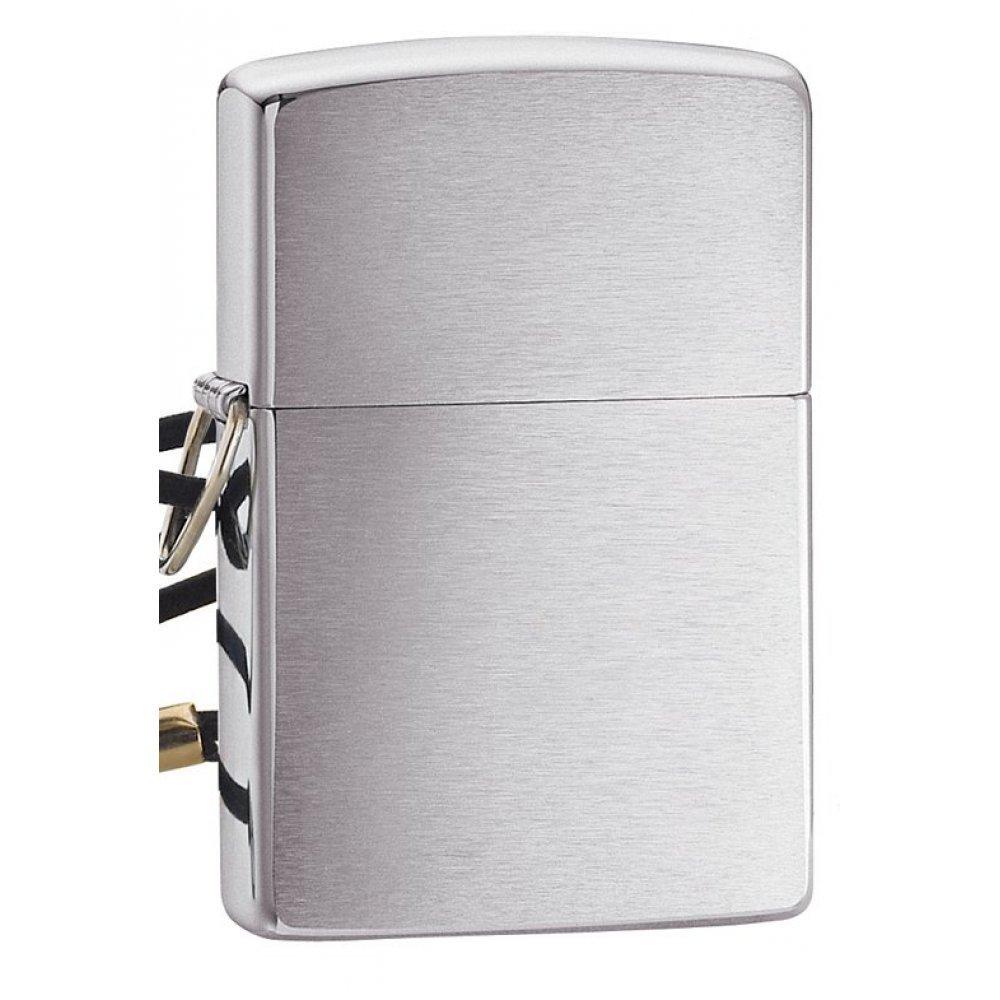 Зажигалка ZIPPO Classic с покрытием Brushed Chrome, латунь/сталь, серебристая, матовая, 36x12x56 мм 275