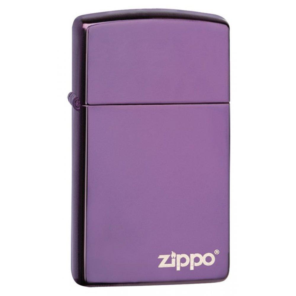 Зажигалка ZIPPO Slim® с покрытием Abyss™, латунь/сталь, сиреневая, 30x10x55 мм 28124ZL