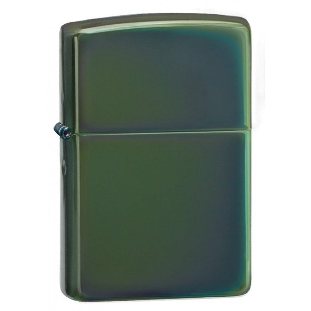 Зажигалка ZIPPO Classic с покрытием Chameleon™, латунь/сталь, зелёная, глянцевая, 36x12x56 мм 28129