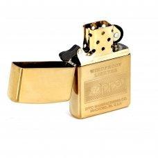 Зажигалка ZIPPO Classic с покрытием High Polish Brass, латунь/сталь, золотистая, 36x12x56 мм 28145