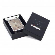 Зажигалка ZIPPO Classic с покрытием Brushed Chrome, латунь/сталь, серебристая, матовая, 36x12x56 мм 28180