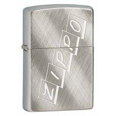 Зажигалка ZIPPO Classic с покрытием Brushed Chrome, латунь/сталь, серебристая, матовая, 36x12x56 мм 28182 ZIPPO