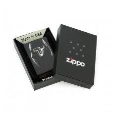 Зажигалка ZIPPO Classic с покрытием Black Matte, латунь/сталь, чёрная, матовая