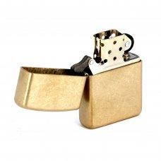 Зажигалка ZIPPO Armor™с покрытием Tumbled Brass, латунь/сталь, золотистая, матовая, 37х13x58 мм 28496