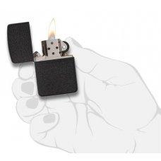 Зажигалка ZIPPO 1941 Replica, латунь с покрытием Black Crackle, черный, матовая, 36х12x56 мм 28582
